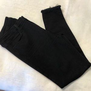 Just Black fringe cuff black jeans